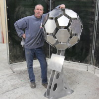 Large Soccer Ball Monument