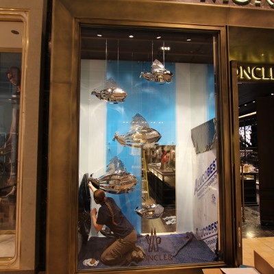 Window display installation