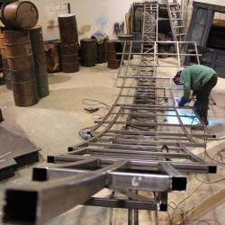 Aluminum Prop Frame Welding