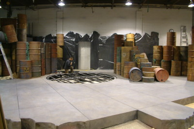 Toxic Avenger Stage Turntable Construction