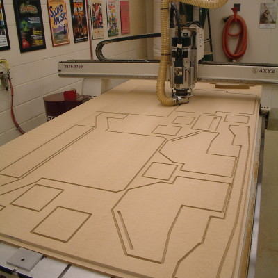 CNC Making 3D Wood Model