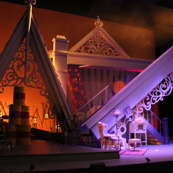The Arsonists Theater Set