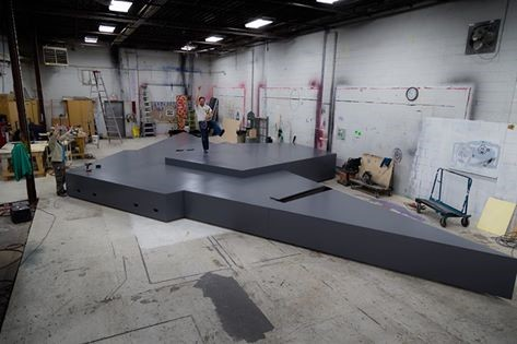 Splash and Boots Stage Construction